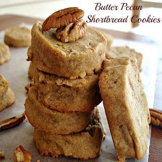 Butter Pecan Shortbread Cookies.