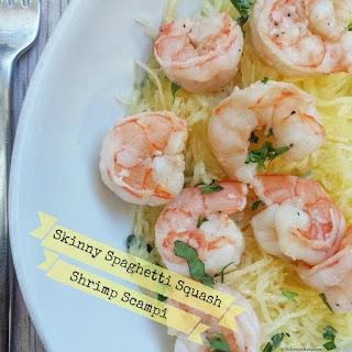 Skinny Spaghetti Squash Shrimp Scampi.