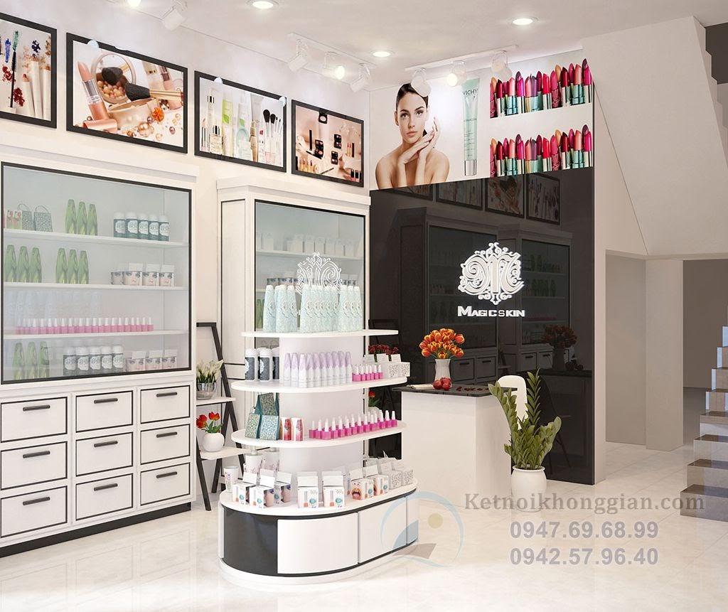 thiết kế shop mỹ phẩm, thiết kế cửa hàng mỹ phẩm