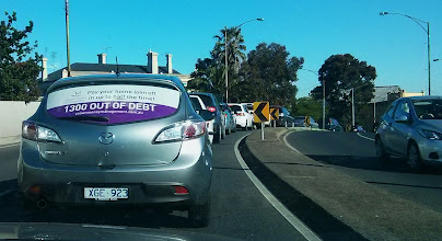 Photo: We like stalking our clients particularly when they live in the same suburb. #rearwindowadvertising #crownmanagement #outandabout