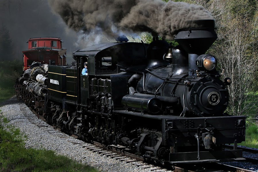 Post Card by Chuck  Gordon  - Transportation Trains ( steam train )