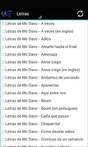 Mc Davo Letras Musica