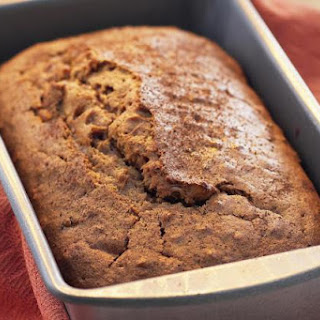 Spiced Pumpkin Bread with Toasted Nuts and Golden Raisins