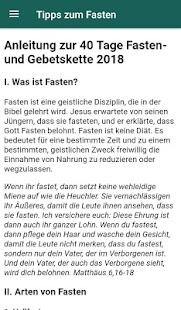 TOS Fasten & Gebets-App - náhled