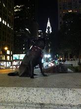 Photo: Malia gazing on the Chrysler Building in New York, NY