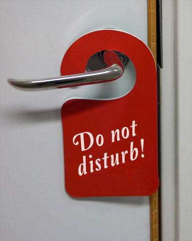 Do not disturb skyltar enkelsidig,10-pack