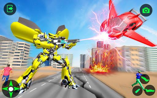 Flying Car- Super Robot Transformation Simulator apkpoly screenshots 12