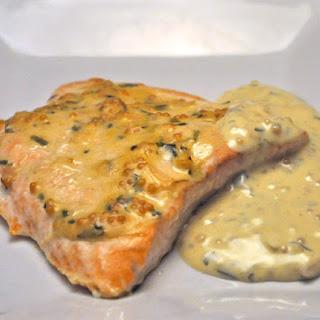 Salmon with Mustard Sauce.