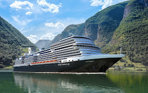 Holland America's Rotterdam during a visit to Indonesia.