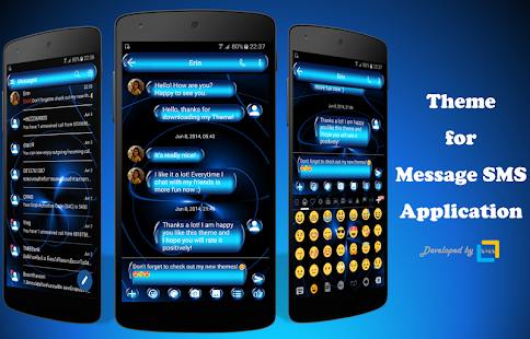 SpheresBlue SMS Zprávy - náhled
