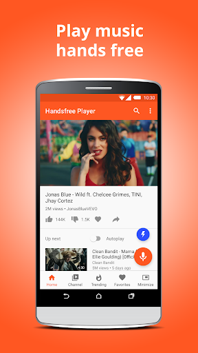 Handsfree Player for YouTube u2013 Play Music & Videos 3.1 (Build 4) screenshots 2