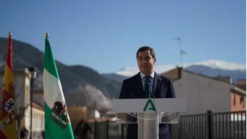 Juanma Moreno, este viernes. Foto: Junta de Andalucía