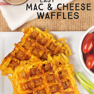 Easy Mac and Cheese Waffles.