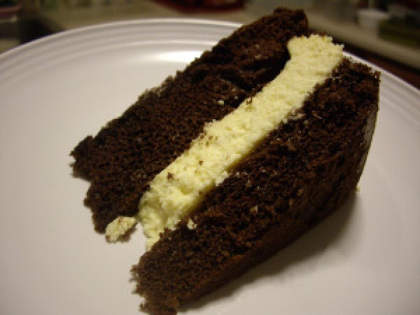 Chocolate Layer Cake With Cheesecake Filling Recipe