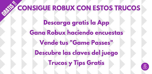Robutrc Trucos Para Conseguir Robux Gratis Aplicaciones En