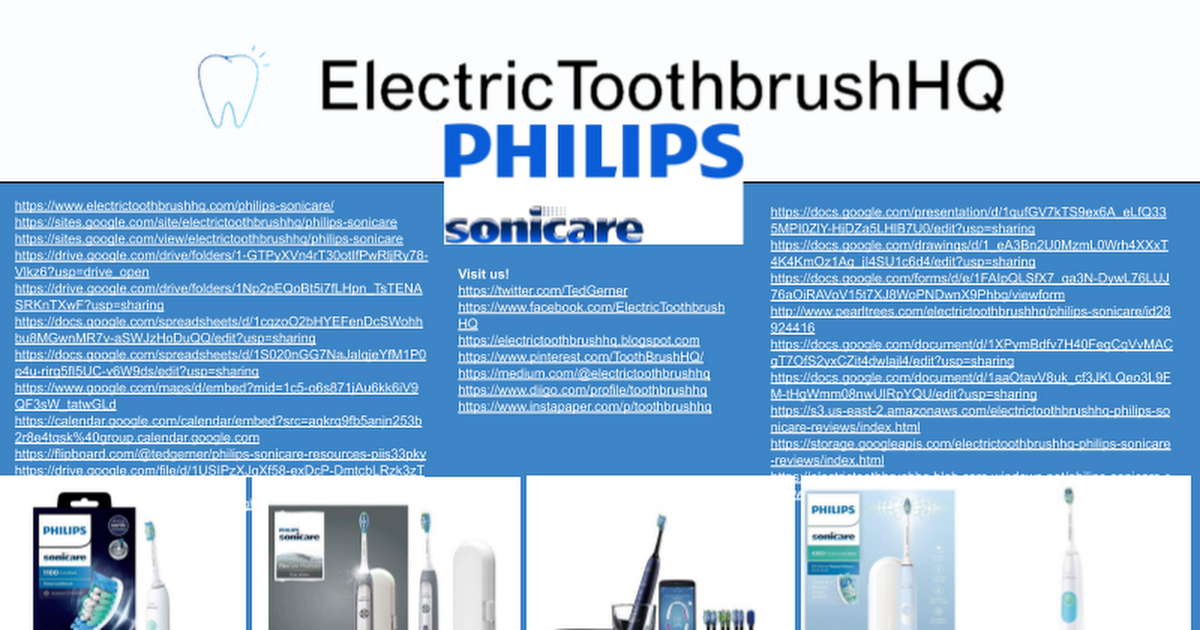 Philips Sonicare Resources - cover