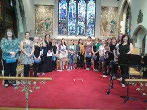 Photo: The ladies of the Cecilian Choir rehearsing at St Paul's Without, Canterbury, ahead of their evening concert on day five of Summer Music Week.