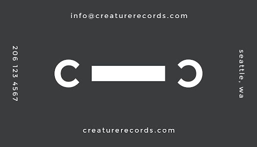 Cassette Tape Label - Business Card Template