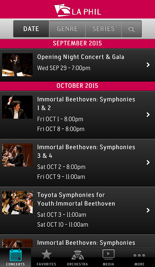 LA Phil- screenshot