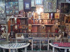 Photo: Religious goods for sale along the Via Dolorosa