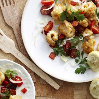 Squid, Chorizo and Fennel Salad.
