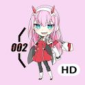 Zero Two Anime Wallpaper HD 4K icon