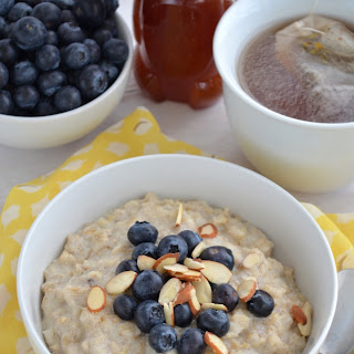Lemon Ricotta Oatmeal with Blueberries and Almonds Recipe