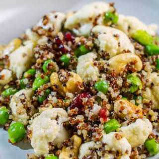 YEW 'Shaken' Green Garbanzo Bean, Cauliflower, and Quinoa Salad.