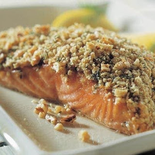 Crunchy Walnut-Crusted Salmon Fillets.