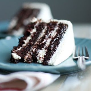 The Best Chocolate Cake Ever with Pudding Frosting.