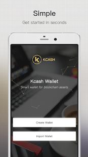 Kcash - Blockchain Wallet (BTC, ETH, LTC, BCH...) - náhled