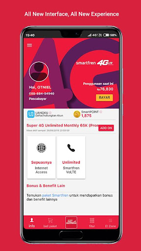 MySmartfren - 4G Internet Champion 6.0.2 screenshots 1