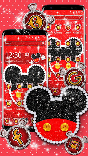 Cute Red Mouse Theme By Attractive Pixel Theme Google Play