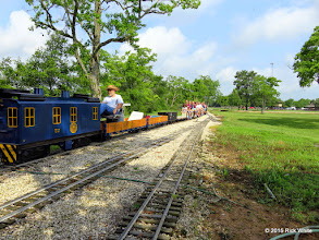 Photo: George Leventon and the long train.     HALS Public Run Day 2015-0516 RPW