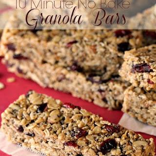 10 Minutes No Bake Granola Bars
