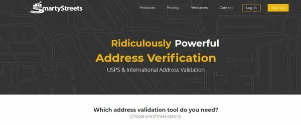 SmartyStreet's Website