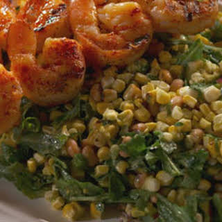 Grilled Shrimp and Corn Salad with Herb Lime Dressing.