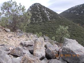 Photo: crête anonyme (648m) au dessus de Castel Fizel ( 496m)