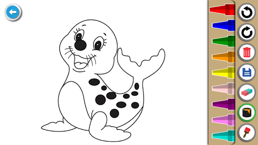 Kids Coloring Book : Cute Animals Coloring Pages filehippodl screenshot 13
