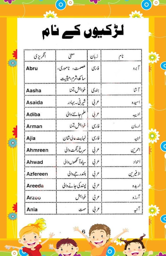 Names in urdu urdu islamic names islamic names with urdu meanings get