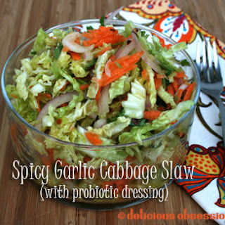 Spicy Garlic Cabbage and Carrot Slaw