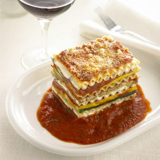 Vegetarian Lasagna with Goat Cheese.