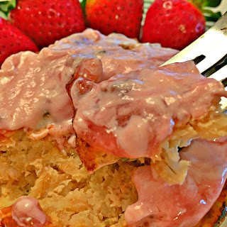 Strawberry Sunrise Oatmeal Cake