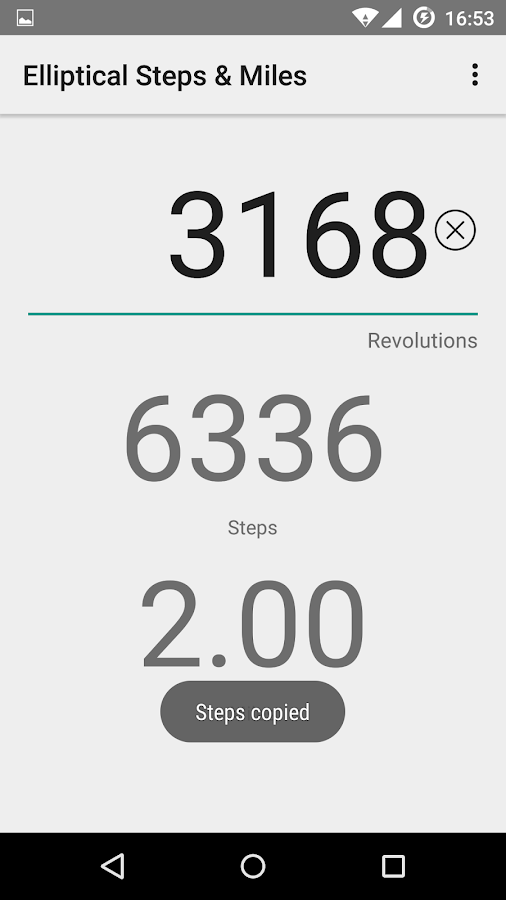 Elliptical Steps & Miles- screenshot