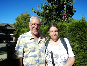 Photo: Dave and his sister Lynn after a nice meal together and before we finished our day 1 journey to Kamloops, BC