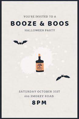 Booze & Boos - Postcard item