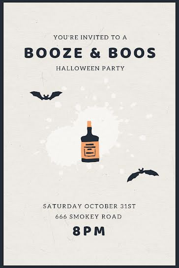 Booze & Boos - Halloween Template