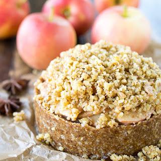 Deep Dish Apple Torte with Walnut Crumble.