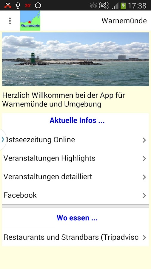 Warnemünde App- screenshot