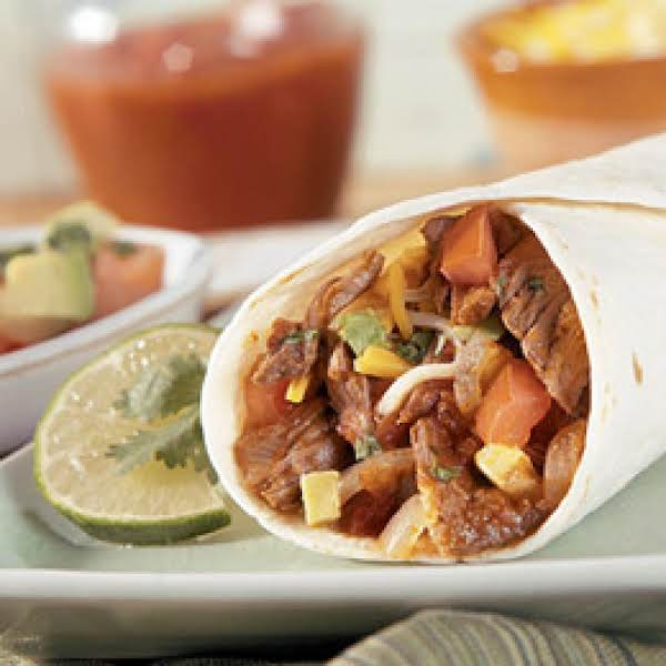 Tex-mex Beef Wraps (crockpot) Recipe